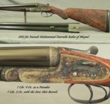 HOLLAND & HOLLAND NITRO EXPRESS PARADOX 12- ROYAL BEST QUALITY SLE- 2 Bbl. SET w/SMOOTHBORE- 1913 forNAWAB NASRULLAH KHAN of BHOPAL - 2 of 8