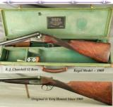 """CHURCHILL 12 EJECT- 25"""" Bbls.- REGAL MODEL- VERY NICE WOOD- 96% ENGRAVING- 1969- 14 13/16"""" LOP- ALL ORIG.- CASED - 1 of 6"""