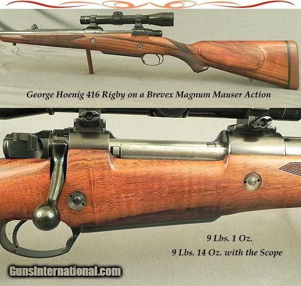 GEORGE HOENIG 416 RIGBY FULL CUSTOM BREVEX MAG MAUSER- HOENIG