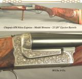CHAPUIS 470 N E- AS NEW- MOD BROUSSE- EXC WOOD- 95% FLORAL & SCROLL ENGRAVING- 99% OVERALL COND.- WE GUARANTEE THESE RIFLES