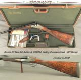 "BERETTA 20 SxS JUBILEE II 470EELL GALLERY PREMIUM GRADE- NEAR EXHIBITION WOOD- EXC. ENGRAVING- SIDEPLATES- 28"" Bbls.- DOUBLE TRIGGERS"