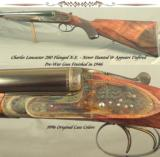 "LANCASTER 280 FLANGED- NEVER HUNTED & APPEARS UNFIRED- PRE-WAR PIECE FINISHED in 1946- SIDELOCK with 26"" CHOPPER LUMP Bbls.- 1946 NEW"