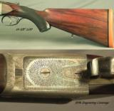 "WILLIAM EVANS 375 FLANGED MAG N. E.- ORIG & EXC 1933 CLASSIC- WEBLEY ACTION- EXC PLUS BORES- 26"" EJECT CHOPPER LUMP- SOLID PIECE - 2 of 5"