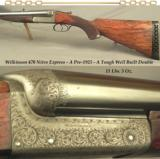 """WILKINSON 470 N. E.- AN EXC & STOUT PRE-1925 LARGE ACTION- BORES as NEW- 26"""" EXTRACTOR CHOPPER LUMP Bbls.- SIDECLIPS- DOLLS HEAD- THIRD BITE"""