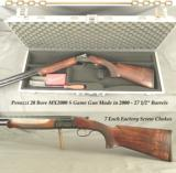 "PERAZZI 20 BORE GAME GUN- MX2000 S- OVERALL a 98% PIECE- MADE in 2000- 7 ea FACTORY SCREW CHOKES- PISTOL GRIP STOCK at 14 3/8""- VERY NICE WOOD"