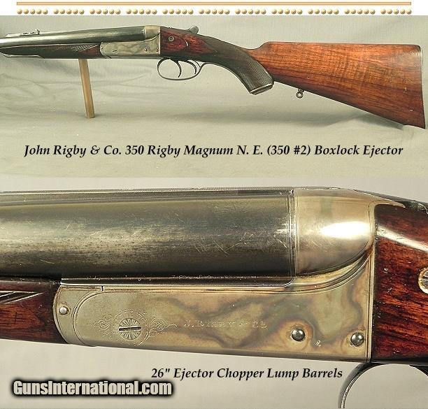 RIGBY 350 RIGBY MAG N. E. (350  2)- A VERY NICE 1914 BOXLOCK- 26 ... 989d0656d