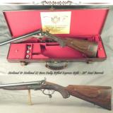 """HOLLAND & HOLLAND 12 BORE FULLY RIFLED EXPRESS- EXC. PIECE w/ VERY STOUT WOOD- 28"""" STEEL Bbls.- VERY GOOD PLUS BORES- EXC. WOOD- ACCURATE - 1 of 7"""