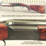 "PERAZZI MX5 C SPORTING 12 BORE with 29 1/2"" VENT RIB BARRELS- SUPER WOOD- 9 SCREW CHOKES- REMAINS in 97% CONDITION- 1999 PIECE"