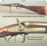 "CHARLES SMITH- 16 BORE 1993 BIRMINGHAM NITRO PROVED REBOUNDING HAMMER GAME GUN- 30"" Bbls.- UNDER-SNAP-ACTION PURDEY THUMBHOLE LEVER"