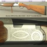 "BERETTA 1970 MODEL BL-4 (S56E)- 12 BORE- 26 1/2"" VENT RIB BARRELS at IMP. CYL. & OPEN MOD.- SINGLE SELECTIVE TRIGGER- 80% ENGRAVING COVERAGE"