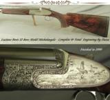 "BOSIS 12 SIDELOCK MODEL MICHELANGELO- TOTAL SUPERB DASSA ENGRAVED- 29 1/2"" LUTEROTTI BARRELS- FINISHED in 1999- GAME BIRD SCENES- NICE"