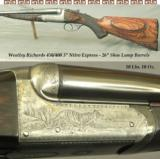"WESTLEY RICHARDS 450/400 3"" N. E.- 26"" EXTRACTOR Bbls. w/ DOLLS HEAD & THIRD BITE- VERY GOOD BORES- 70% ENGRAVING- NICE WOOD"