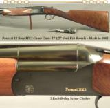 "PERAZZI MX3- 12 BORE GAME GUN- 27 1/2"" VENT RIB Bbls.- REMAINS in 99% COND.- 1983- 5 EACH BRILEY CHOKES- REMAINS in 99% COND.- DETACHABLE TRIGGER"
