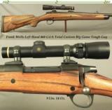 FRANK WELLS 460 G&A LEFT HAND TOTAL CUSTOM- SAKO LEFT HAND ACTION- VERY NICE ENGLISH WALNUT- 1.5 x 5 LEUPOLD- DIES & AMMO