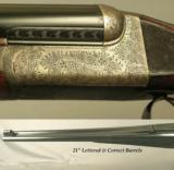 "WESTLEY RICHARDS 470 N. E. HAND DETACHABLE DROPLOCK- ORIG & LETTERED 21"" Bbls. for a MAHARAJA in 1911- MODERN INSTALLED 375 Flgd. & 20 Ga. Bbls. - 4 of 6"