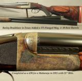 "WESTLEY RICHARDS 470 N. E. HAND DETACHABLE DROPLOCK- ORIG & LETTERED 21"" Bbls. for a MAHARAJA in 1911- MODERN INSTALLED 375 Flgd. & 20 Ga. Bbls. - 2 of 6"