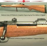 DAKOTA 257 ROBERTS ENGRAVED CLASSIC GRADE- TIM ADLAM 95% ENGRAVING COVERAGE- TOTALLY APPEARS UNFIRED- NICE WOOD W/ a LOT of FIDDLEBACK - 1 of 5