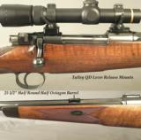 RODDA 404 JEFFERY- MADE by AUGUST SCHULER for RODDA- 1928 SUHL MADE MAUSER- TALLEY Q D MOUNTS-1/2 ROUND 1/2 OCTAGON Bbl. - 2 of 4