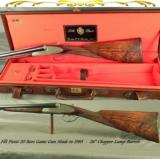 "PIOTTI 20 MOD LUNIK- 26"" CHOPPER LUMP Bbls- 1985- DOUBLE TRIGGERS- ORIG & 98% COND- NICE WOOD- 5 Lbs. 10 Oz.- EXC. PLUS COND.- CASED"