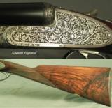 """PIOTTI 20 MOD LUNIK- 26"""" CHOPPER LUMP Bbls- 1985- DOUBLE TRIGGERS- ORIG & 98% COND- NICE WOOD- 5 Lbs. 10 Oz.- EXC. PLUS COND.- CASED- 3 of 4"""