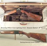 "BROWNING 20 GRAN LIGHTNING THAT REMAINS UNFIRED- 28"" V R Bbls.- VERY NICE UPGRADED FACTORY OIL FINISHED WOOD- 1992- INVECTOR CHOKES"