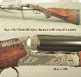 """HEYM 500 3"""" N. E. MOD 88B SAFARI- 24"""" EJECT Bbls.- BOLSTERED FRAME- OVERALL a 98% GUN- 1989- BORES ARE NEW- 45% FACTORY ENGRAVING"""
