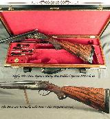 """RIGBY RISING BITE 470 N. E.- BORES as NEW with ORIG. Bbls.- SUPERB 1911 SIDELOCK CLASSIC- 26"""" EJECTOR CHOPPER LUMP Bbls.- OUTSTANDING WOOD - 1 of 7"""