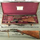 RIGBY 7x65R- 1930 SIDELOCK EJECT- WAS a 7mm RIGBY & in 1994 RIGBY RECHAMBERED & REGULATED ONLY- ENGRAVED by HARRY KELL- THIS is a NICE RIFLE - 1 of 8