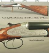 "WEATHERBY 28 BORE MADE in ITALY- MOD. ATHENA D'ITALIA- OVERALL COND. 99%- NICE WOOD- 26"" Bbls.- DOUBLE TRIGGERS- 14 1/2"" LOP- 6 Lbs. 3 O"