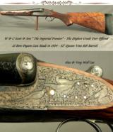 """W & C SCOTT """"IMPERIAL PREMIER""""- SCOTT'S HIGHEST GRADE EVER OFFERED- EXTENSIVE ENGRAVING- 32"""" EJECT V R Bbls.- BUILT as a PIGEON GUN - 1 of 9"""