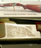 """BROWNING 28 BORE CITORI- 725 FIELD MODEL- 26"""" V R Bbls. with 5 INVECTOR SCREW CHOKES- ALMOST LIKE a NEW GUN- OVERALL 99% CONDITION - 1 of 4"""