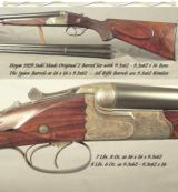 HEYM 1929 DOUBLE RIFLE DRILLING- ORIG. 2 Bbl. SET- 9.3x62 x 9.3x62 x 16