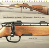 STEYR MANNLICHER M CARBINE- 270 WIN.- REMAINS as NEW- SINGLE TRIGGER- FULL LENGTH MANNLICHER STOCK- MADE 1982- OVERALL COND. at 99% - 1 of 3