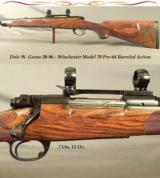 DALE GOENS 30-06- PRE-64 MOD. 70 ACTION- PURE CLASSIC STYLE- NICE WORKMANSHIP- GOENS WRAP AROUND FLEUR-DE-LIS CHECKERING- EXC. WOOD