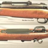 WINCHESTER 338 WIN. MAG. MOD. 70 PRE-64- MADE in 1959- VERY NICE & ORIG.- HUNTED but HONEST- 90% OVERALL BLUE- WOOD FINISH at 90% - 2 of 3