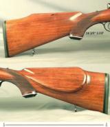 "MANNLICHER SCHOENAUER 270 WIN. CARBINE- MOD. MCA- 20"" Bbl.- QD SINGLE LEVER PIVOT MOUNTS- SWAROVSKI 1.5x4.5- DOUBLE SET TRIGGERS- MADE 1966- EXC. - 4 of 4"