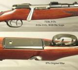 "MANNLICHER SCHOENAUER 270 WIN. CARBINE- MOD. MCA- 20"" Bbl.- QD SINGLE LEVER PIVOT MOUNTS- SWAROVSKI 1.5x4.5- DOUBLE SET TRIGGERS- MADE 1966- EXC. - 2 of 4"