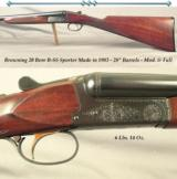 "BROWNING 20 MOD. B-SS SPORTER- STRAIGHT ENGLISH STOCK- 28"" Bbls.- MOD. & FULL- OVERALL a 94% GUN- ALL ORIG.- 14 3/8 x 1 1/2 x 2 3/8""- 6 Lbs."