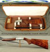 BROWNING BELGIUM 22 by ANGELO BEE- GRADE III- UNFIRED- OUTSTANDING WOOD THAT is BETTER THAN MOST- MADE in 1971- HARTMAN TRUNK