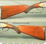 """BROWNING BELGIUM 20- 1958- ROUND KNOB LONG TANG- 28"""" V R Bbls.- CHOKES OPENED to SKT & SKT- SOLID HUNTING PIECE - OVERALL a 92% PIECE- BORES as N - 3 of 3"""