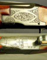 """BROWNING BELGIUM 20- 1958- ROUND KNOB LONG TANG- 28"""" V R Bbls.- CHOKES OPENED to SKT & SKT- SOLID HUNTING PIECE - OVERALL a 92% PIECE- BORES as N - 2 of 3"""