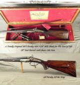 """PURDEY 450 3 1/4"""" BPE- A TOTALLY ORIG 1877 RIFLE & CASE- MADE for THE EARL of FIFE & OWNED by PRINCE ARTHUR the DUKE of CONNAUGHT- BORES LIKE NEW - 1 of 11"""