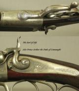 """PURDEY 450 3 1/4"""" BPE- A TOTALLY ORIG 1877 RIFLE & CASE- MADE for THE EARL of FIFE & OWNED by PRINCE ARTHUR the DUKE of CONNAUGHT- BORES LIKE NEW - 4 of 11"""