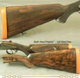 HOLLAND & HOLLAND 500/465 N. E.- DOMINION SIDELOCK EJECT- EXC. PLUS BORES- VERY NICE LEATHER TRUNK- ORIG. STOCK + NEW LEFT HAND STOCK - 5 of 5
