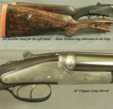HOLLAND & HOLLAND 500/465 N. E.- DOMINION SIDELOCK EJECT- EXC. PLUS BORES- VERY NICE LEATHER TRUNK- ORIG. STOCK + NEW LEFT HAND STOCK - 3 of 5