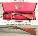 """DICKSON 12 ROUND ACTION- ALMOST LIKE BUYING a NEW VINTAGE DICKSON- COMPLETELY REBUILT by DAVID McKAY BROWN- NEW 28"""" CHOPPER LUMP Bbls. in 2001"""