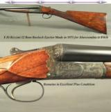 F.LLI RIZZINI 12 MADE 1975 for A & F- EXC. QUALITY BOXLOCK EJECT- TOTALLY ORIG GUN in EXC. COND.- 98% ORIG. CASE COLORS- 99% ENGRAVING- 6 Lbs. 8 Oz.