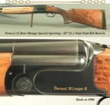 "PERAZZI MIRAGE SPECIAL SPORTING 12- 1990- 97-98% MECHANICAL LIFE LEFT- BORES LIKE NEW- 28"" FLAT RIB- 2 EACH BRILEY CHOKES- ADJUSTABLE LOP TRIGGER"