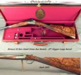 """BERTUZZI 20 MOD ORIONE BEST BOXLOCK- 29"""" CHOPPER LUMP Bbls.- 2003- NEAR EXHIBITION WOOD- 98% ENGRAVING COVERAGE- 5 Lbs. 15 Oz.- LEATHER CASE - 1 of 7"""
