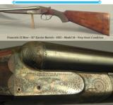 "FRANCOTTE 12 BORE- 32"" Bbls.- 1925- VERY STRONG COND.- 90% ORIG. CASE COLORS- MOD. 14- 8 Lbs. 1 Oz.- EXC. PLUS BORES - TIGHT as NEW- LOT of LIFE"